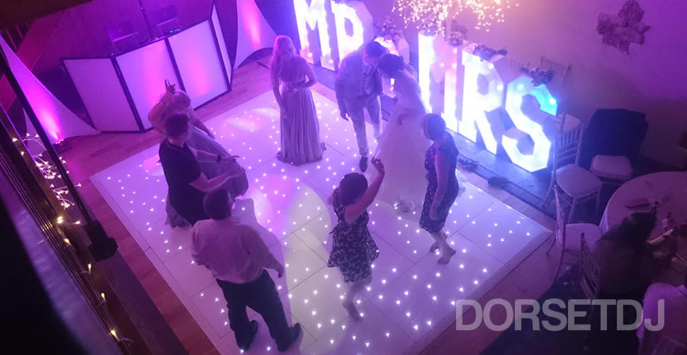 First dance led white starlit dance floor victorian bard