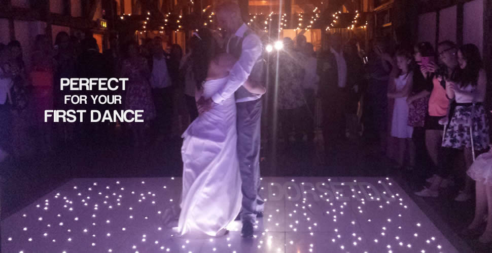 white starlit led dance floor