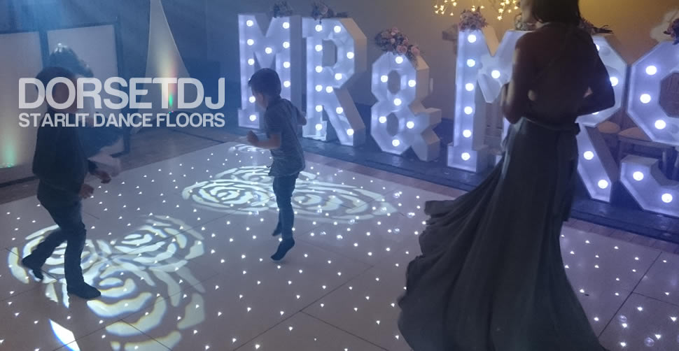 dance floor led white mr and mrs