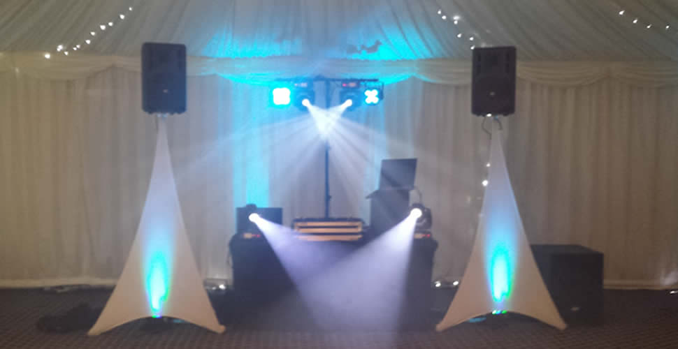 Neat wedding mobile disco